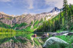 Parc national de glacier photo libre de droits