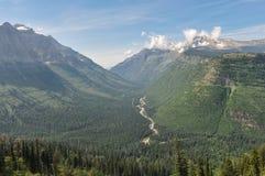 Parc national de glacier, Aller-à-le-soleil-route, Montana, Etats-Unis Image libre de droits