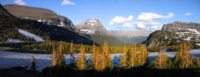 Parc national de glacier au Montana images stock