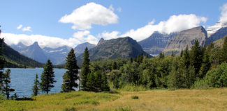 Parc national de glacier - lac Glenns - le Montana - Etats-Unis images stock