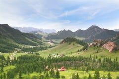 Parc national de Gorkhi-Terelj chez Ulaanbaatar, Mongolie photo stock