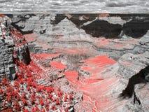 Parc national de Grand Canyon dans l'infrarouge photo stock
