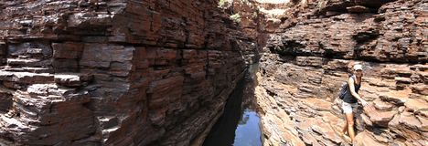 Parc national de Karijini, Australie occidentale Photos libres de droits