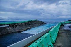 Parc national de Kenting de mer de Yin et de yang Images libres de droits