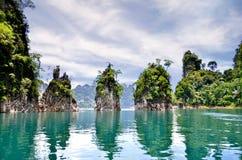 Parc national de Khao Sok chez Suratthani, Thaïlande Images libres de droits