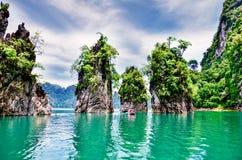 Parc national de Khao Sok chez Suratthani, Thaïlande Image stock