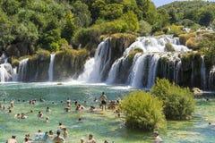 Parc national de Krka, Croatie, le 14 août 2017 Images stock