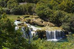 Parc national de Krka, Croatie, le 14 août 2017 Image stock