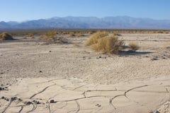 Parc national de la Californie, Death Valley, dunes de boue Images libres de droits