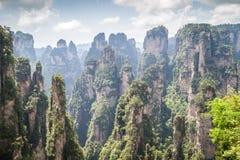 Parc national de la Chine, Zhangjiajie images libres de droits