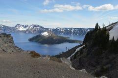 Parc national de lac crater Image stock