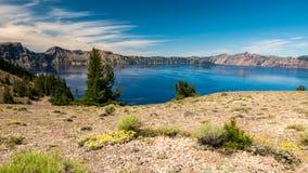 Parc national de lac crater, Orégon, Etats-Unis image stock