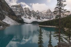 Parc national de lac moraine, Banff, Alberta, Canada Photos stock