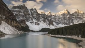 Parc national de lac moraine, Banff, Alberta, Canada Images stock