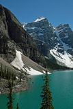 Parc national de lac moraine, Banff, Alberta, Canada Image stock