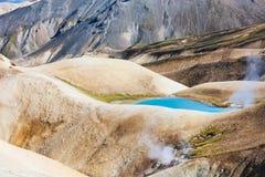 Parc national de Landmannalaugar en Islande, paysage de montagne Photographie stock