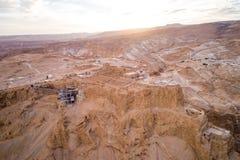 Parc national de Masada dans la région de mer morte de l'Israël photos libres de droits