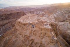 Parc national de Masada dans la région de mer morte de l'Israël images stock
