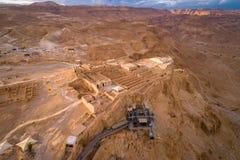 Parc national de Masada dans la région de mer morte de l'Israël image stock