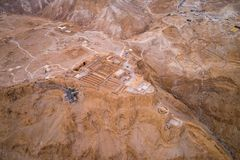 Parc national de Masada dans la région de mer morte de l'Israël photos stock