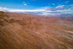 Parc national de Masada dans la région de mer morte de l'Israël photo stock