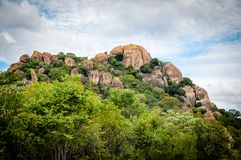 Parc national de Matopas, attraction touristique du Zimbabwe Photographie stock libre de droits
