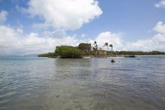 Parc national de Morrocoy, un paradis avec des arbres de noix de coco, San blanc photographie stock libre de droits