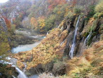 Parc national de Plitvice en automne Photos stock