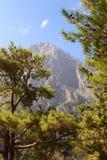 Parc national de Samaria Gorge montagnes de Crète Grèce blanches image libre de droits