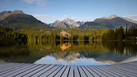Parc national de Tatras de lac mountains haut Images libres de droits