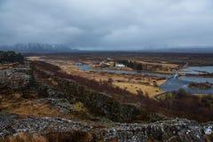Parc national de Thingvellir en Islande Photos stock