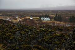 Parc national de Thingvellir en Islande Photographie stock