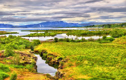 Parc national de Thingvellir, un site de patrimoine mondial de l'UNESCO - Islande photos stock