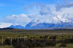 Parc national de Torres del Paine dans le Patagonia, Chili Images libres de droits
