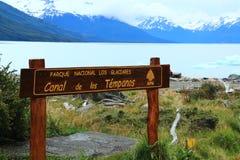 Parc national de visibilité directe Glaciares Photographie stock