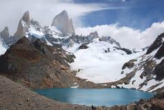 Parc national de visibilité directe Glaciares, vue de bâti Fitz Roy, Patagonia du sud, Argentine photographie stock