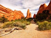 Parc national de voûtes, augmentant, Utah Photos libres de droits