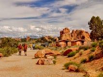 Parc national de voûtes, augmentant, Utah Image libre de droits