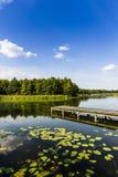 Parc national de Wigry de lac poland photo stock