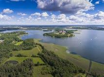 Parc national de Wigry de lac Suwalszczyzna, Pologne L'eau bleue et Photographie stock