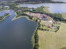 Parc national de Wigry de lac Suwalszczyzna, Pologne L'eau bleue et Image stock