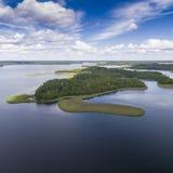 Parc national de Wigry de lac Suwalszczyzna, Pologne L'eau bleue et Photo libre de droits