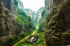 Parc national de Wulong, Chongqing, Chine image libre de droits
