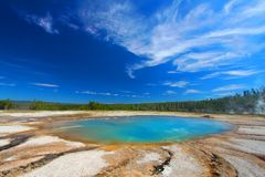 Parc national de Yellowstone de piscine de turquoise Photographie stock libre de droits