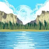 Parc national de Yosemite illustration libre de droits