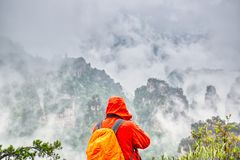 Parc national de Zhangjiajie Attraction touristique c?l?bre dans Wulingyuan, Hunan, Chine Paysage naturel stupéfiant avec le phot photo stock