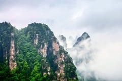 Parc national de Zhangjiajie Attraction touristique c?l?bre dans Wulingyuan, Hunan, Chine Paysage naturel stup?fiant avec les pil photos libres de droits