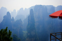Parc national de Zhangjiajie en Chine Images libres de droits