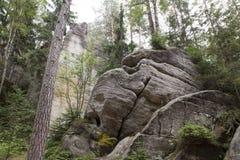 Parc national des roches d'Adrspach-Teplice Ville de roche République Tchèque Photos libres de droits