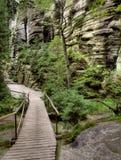 Parc national des roches d'Adrspach-Teplice Ville de roche République Tchèque Photo libre de droits